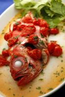 berice rosso in acqua di mare 金目鯛のアクア・ディ・マーレ